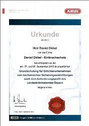 ABUS-Urkunde LKA-Grundschulung