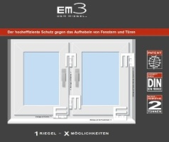 riegel einbruchschutz zum nachr sten f r fenster mit em3. Black Bedroom Furniture Sets. Home Design Ideas