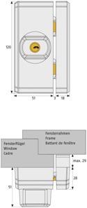 ABUS FTS96-Maße