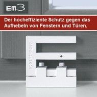 scharnierseitensicherung einbruchschutz f r fenster die terrassent r. Black Bedroom Furniture Sets. Home Design Ideas