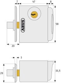 ABUS FTS 3002-Maße