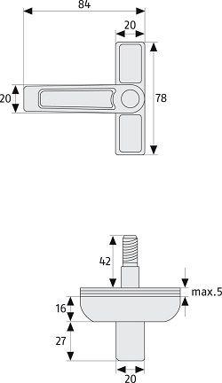 schwenkriegelschloss abus 2510 abus 2520 schwenkriegel. Black Bedroom Furniture Sets. Home Design Ideas